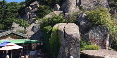 韓国大邱 ビスルサンの山頂に建立された大見寺