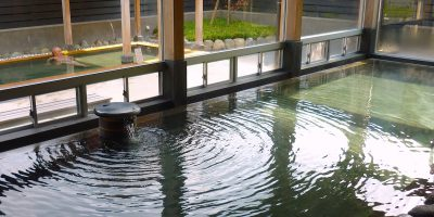 山口県宇部市くすのき温泉「くすくすの湯」と「宇部かま」の竹輪